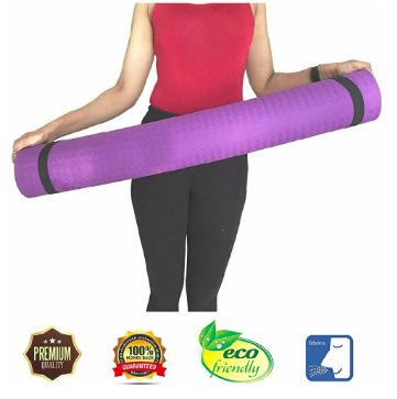 Curveit TPE Yoga Mat with Carrying Strap