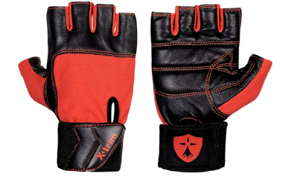 Xtrim Unisex Macho Leather Gym Workout Gloves