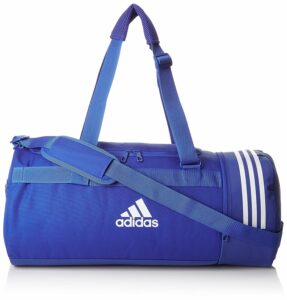 Adidas Men's and Women's Polyester Convertible 3-Stripes Duffle Blue
