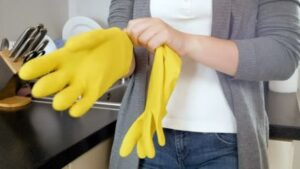 Wear Protective Gloves When Doing Chores