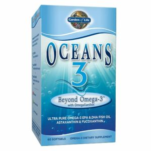 Garden of Life, Oceans 3, Beyond Omega-3 with OmegaXanthin, 60 Softgels