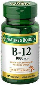 Nature's Bounty Natural Vitamin B12, 1000mcg,