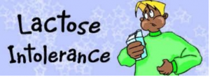 lactose intolerant person